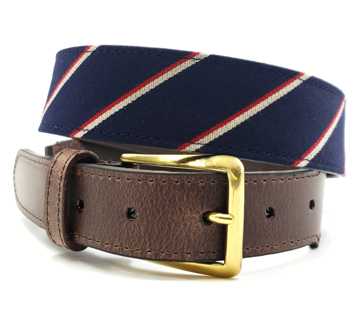 Striped Red White Blue Belt - FH Wadsworth