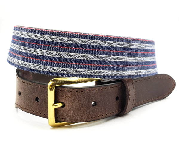 Summer Selvedge Leather Tab Belt - FH Wadsworth