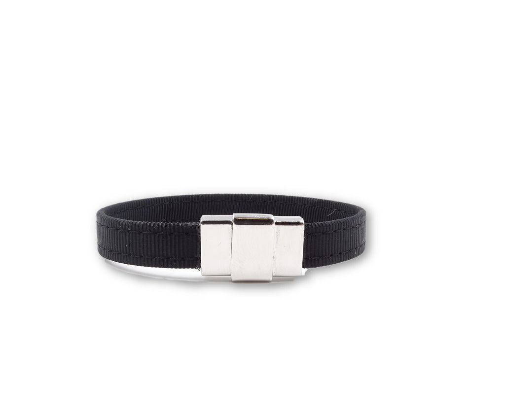 Solid Black Ribbon Bracelet