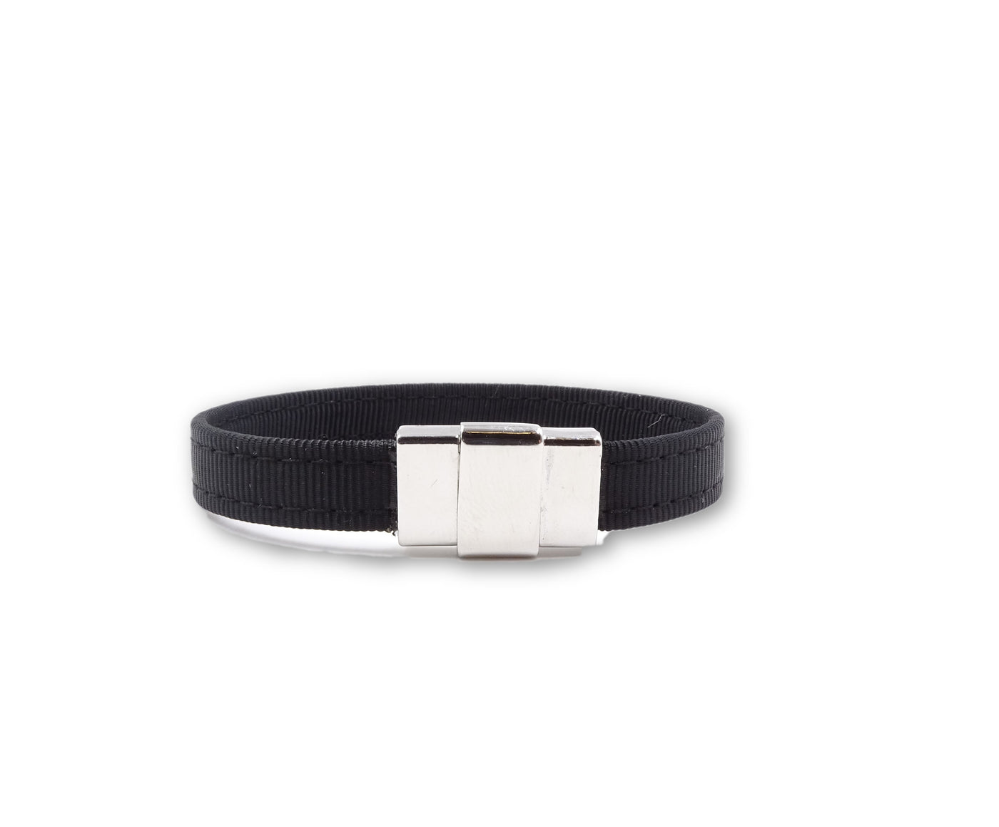 Solid Black Ribbon Bracelet - FH Wadsworth