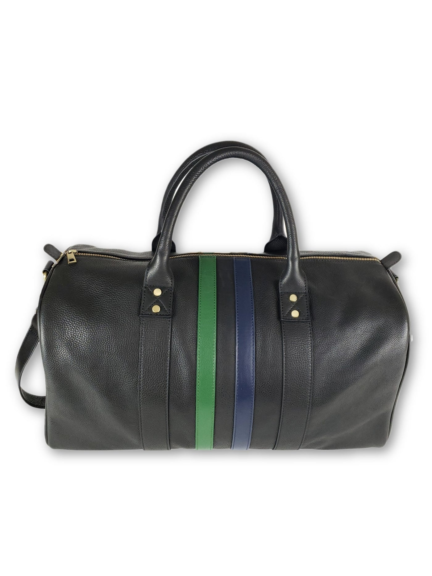 Black Leather Duffle Bag - FH Wadsworth
