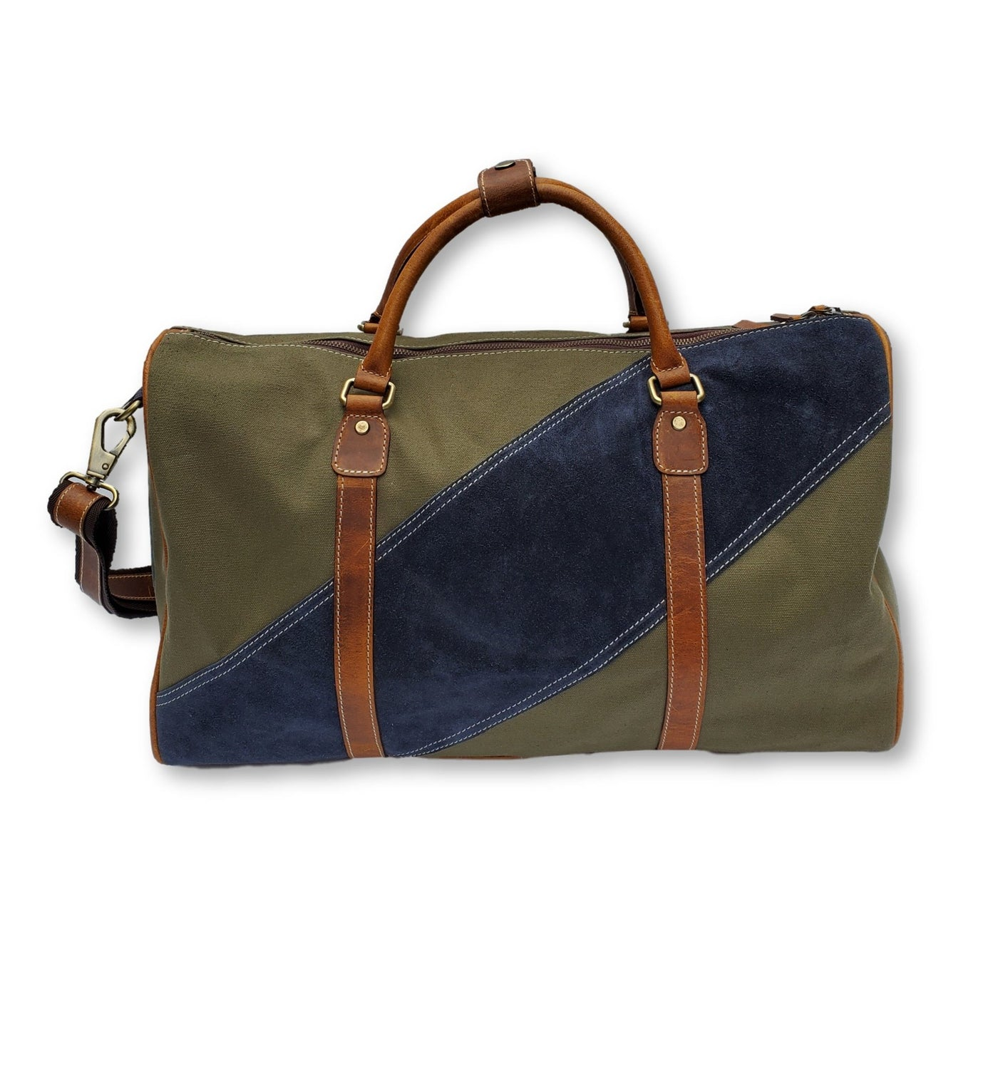 Canvas & Suede Duffle Bag - FH Wadsworth