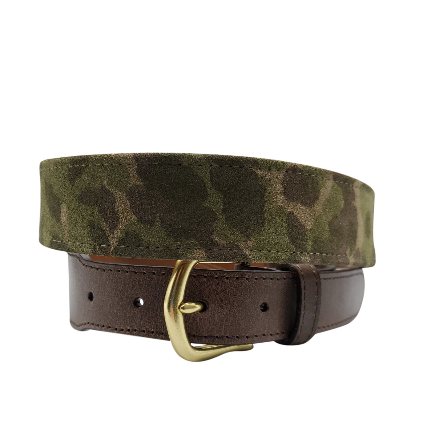 Green Camouflage Suede Belt