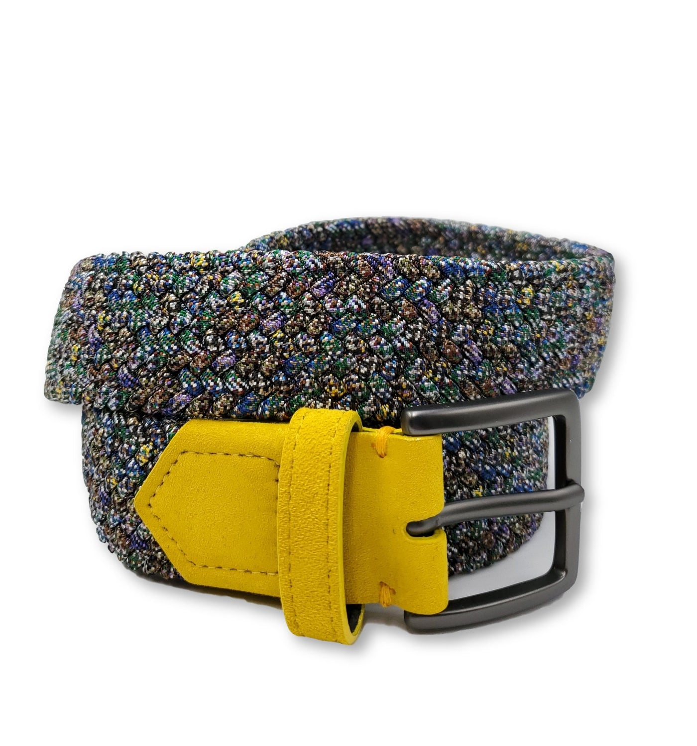 Light Multicolored Speckled Stretch Belt - FH Wadsworth