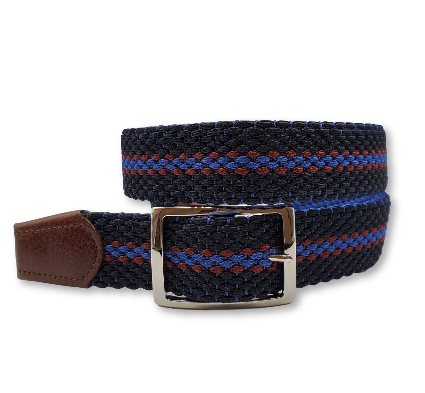 Striped Reversible Elastic Stretch Belt