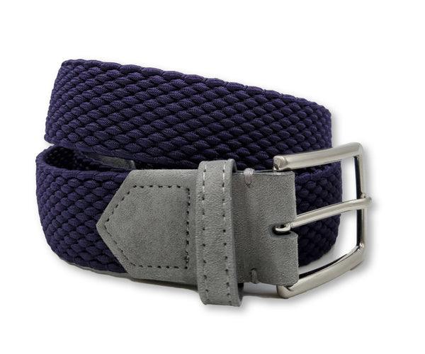 Deep Purple Elastic Stretch Belt - FH Wadsworth