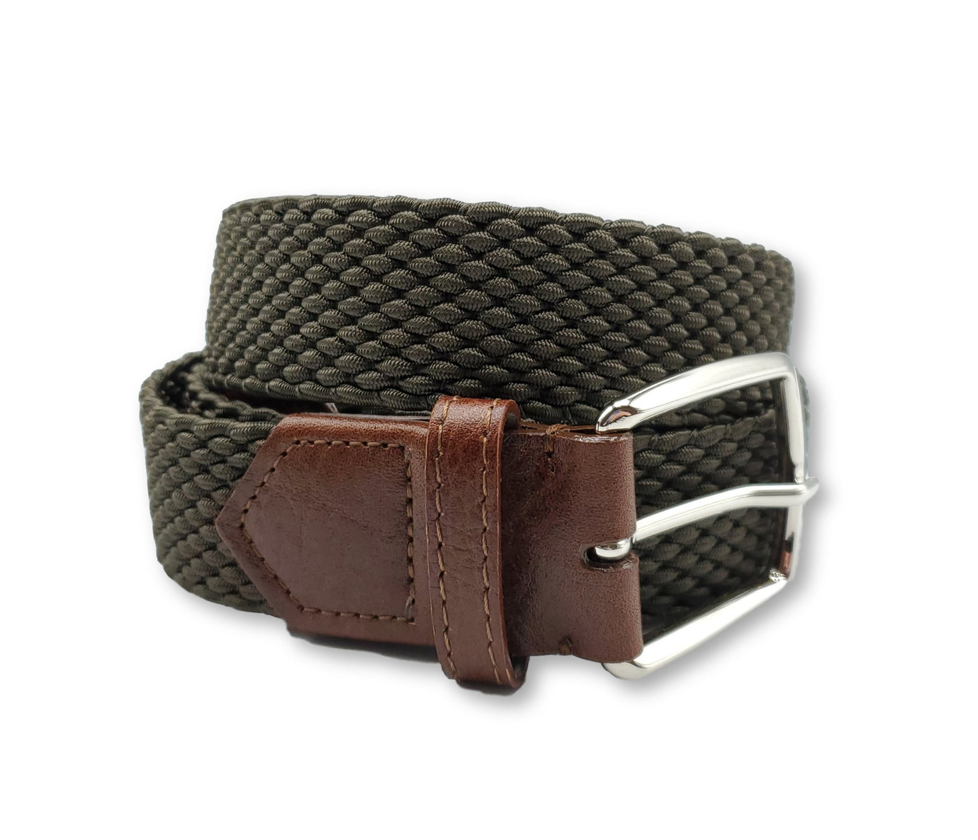 Olive Elastic Stretch Belt - FH Wadsworth