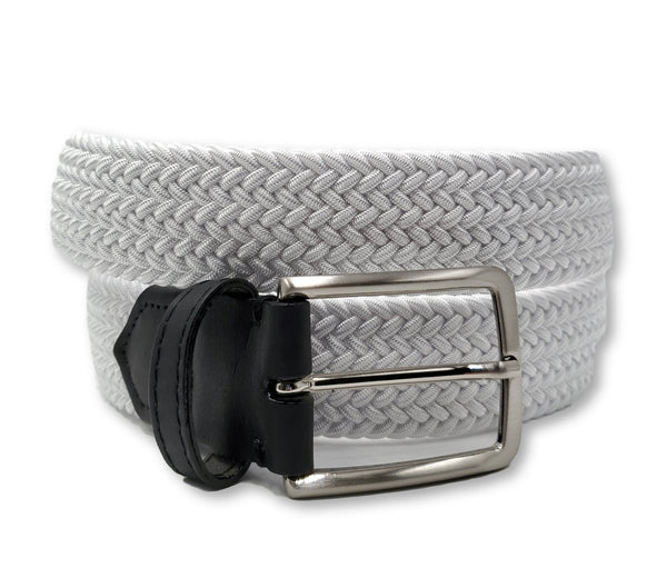 White Elastic Stretch Belt - FH Wadsworth