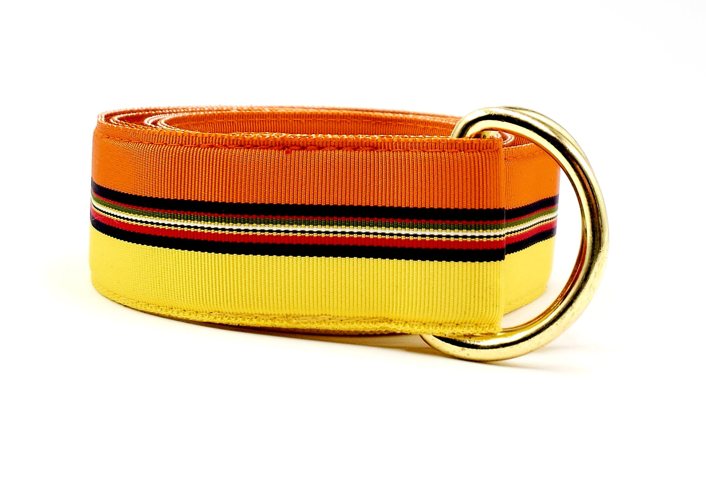 Yellow & Orange Striped Sunset Ribbon Belt - FH Wadsworth