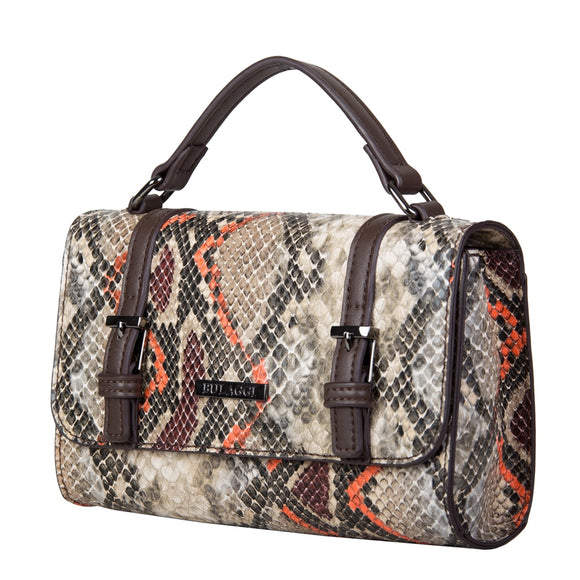 Bulaggi snake crossbody bag 30796 with rust trim