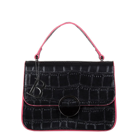 Bulaggi Daisy handbag 30812 in black or burgandy reminiscent of Mary Quant