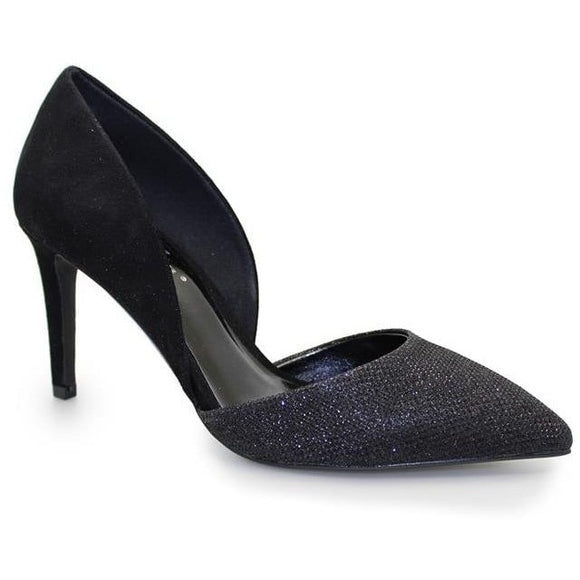 Lunar Adriana court shoe black with bling