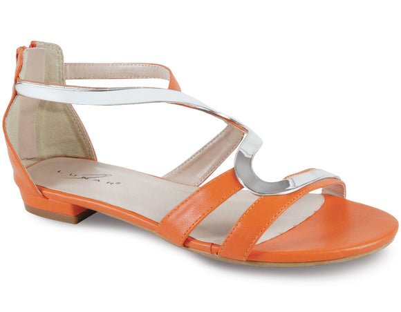 Lunar Andie in orange gladiator sandal reduced to £19.99 at Number 39