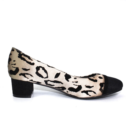 Lunar pump Ayda in animal print by Lunar FLR526