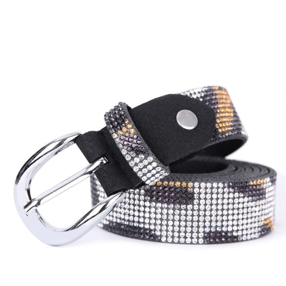 Animal print crystal belt by Peach Accessories BL005