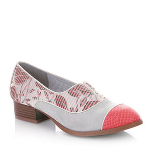 Ruby Shoo Brooke Brogues coral vegan friendly