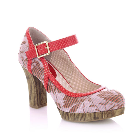 Vegan friendly shoe Cassandra by Ruby Shoo in Coral vegan friendly