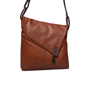 Bolla Bags leather Cedar crossover bag in Cognac and black