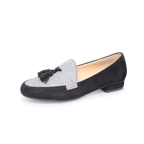Lunar Codey FLC067 grey tassle loafer