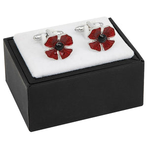 Equilibrium mens poppy cufflinks