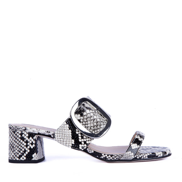 Komilla leather sandal in animal print by Unisa