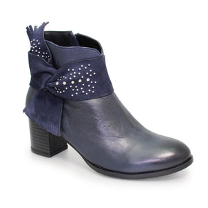 Lunar Maine Navy ankle boot GLH514 leather suede