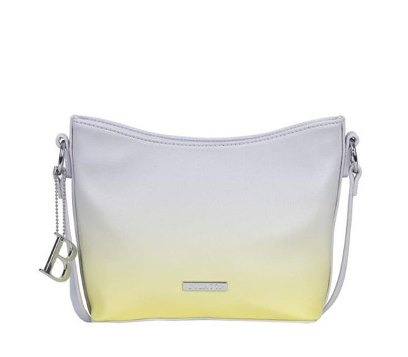Bulaggi crossbody Melanie bag in white and verigated yellow