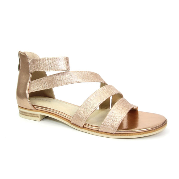 Sol gladiator sandal JLC152 by Lunar in rose gold