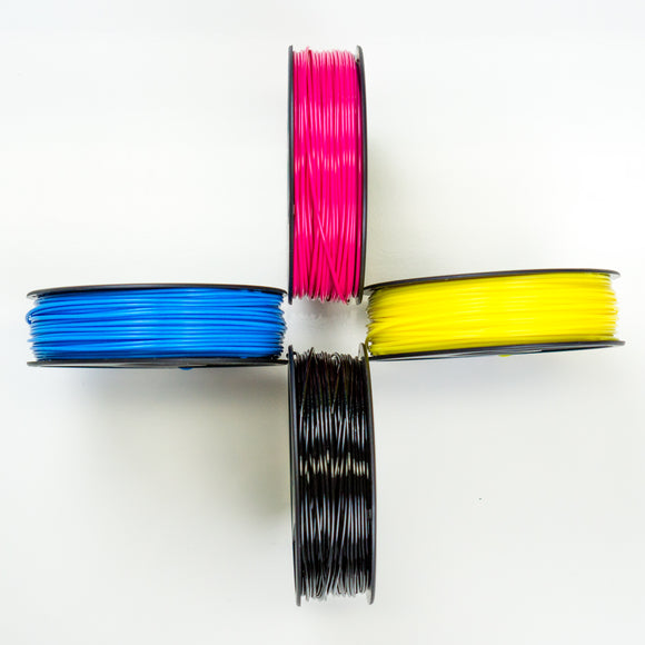 250ft/250g CMYK Color-Calibrated PLA 3D Ink® (Opaque) $18 Ea.