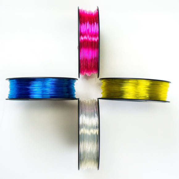 250ft/250g CMYK Color-Calibrated PETG (ABS-R) 3D Ink® (Transparent) $22 Ea.