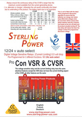 Current Limiting VSR Pro Con CVSR | Sterling Power Products