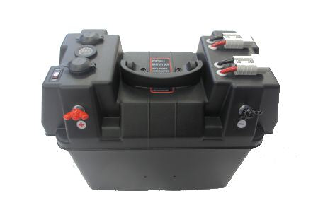 Battery Boxes with Voltmeters