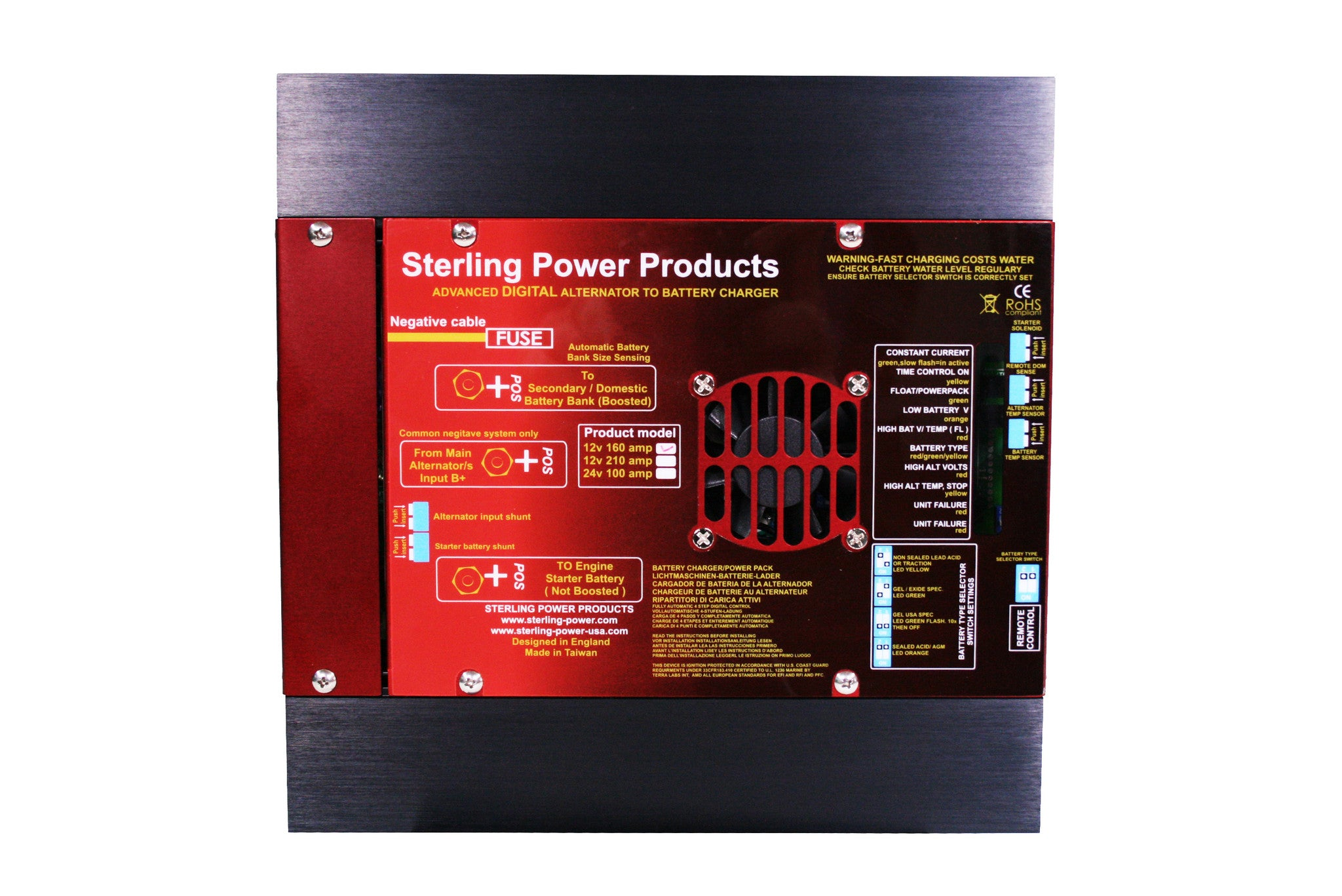 Sterling Power Pro Charge B 12V Waterproof Battery to Battery Charger BBW1212