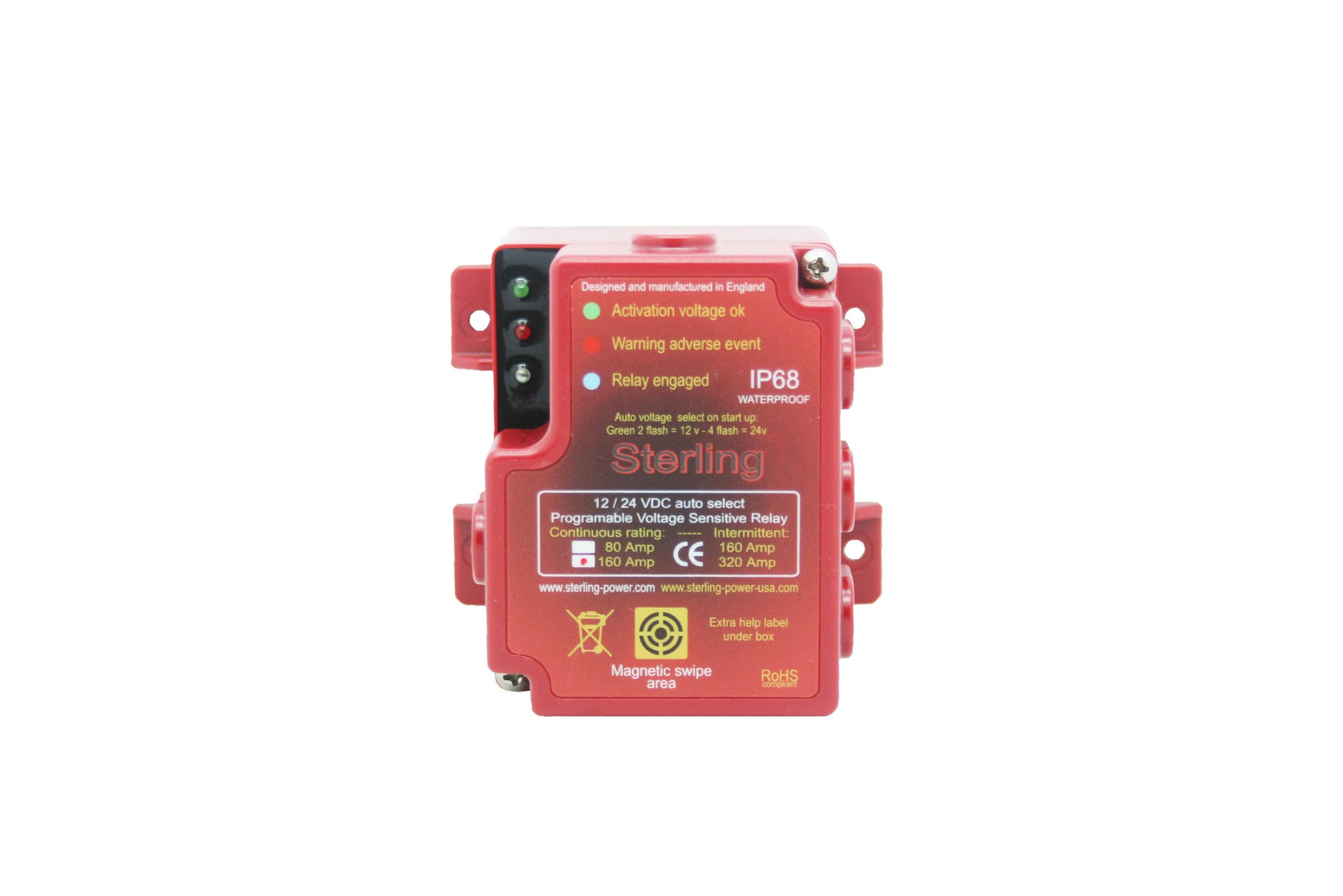 12 Volt Voltage Sensitive Relay Mlacr Automatic Charging With Manual Control 12v Dc 500a Digital 80 160a 1224v Sterling Power