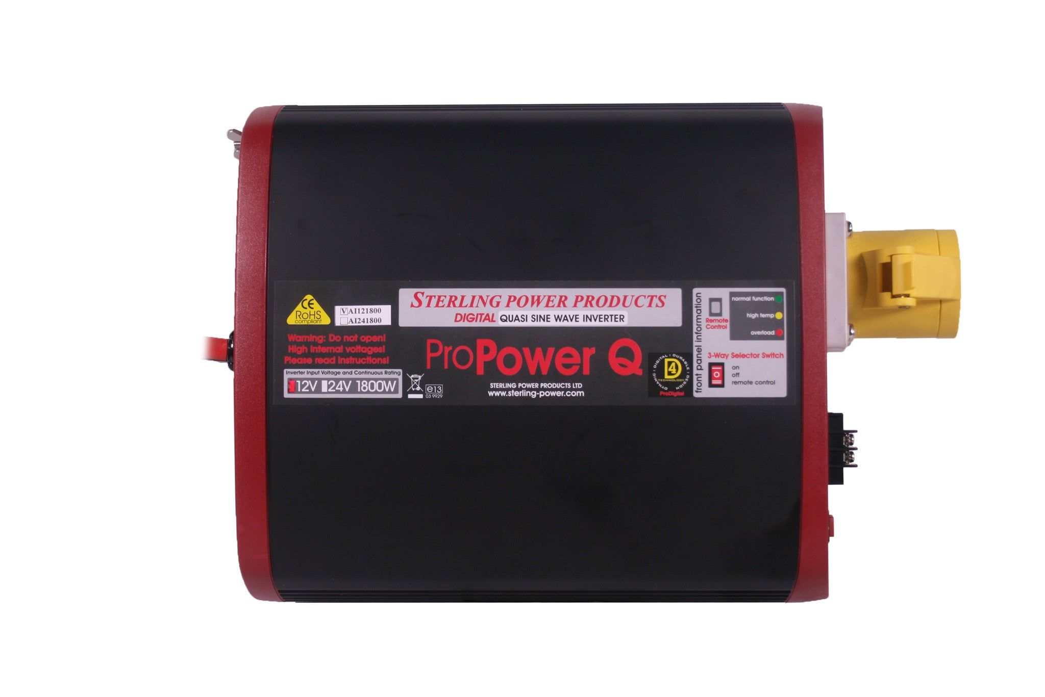 110V Quasi Sine Wave Inverter models for UK Building Sites with Remote Control and Engine Interlock