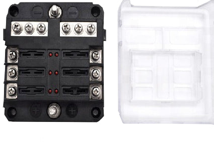 ATC / ATO Fuse Holder Blocks With Negative Bars and LED Fault Lights
