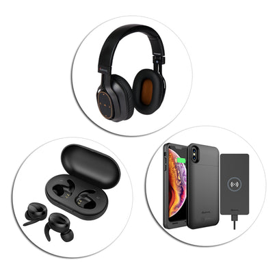 Other products including Bluetooth Headphones, Speakers, Earbuds, Wireless Chargers and More!