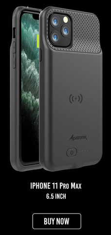 BX11pro max battery charging charger case for Apple iPhone 11 pro max with Qi wireless charging and lightning input