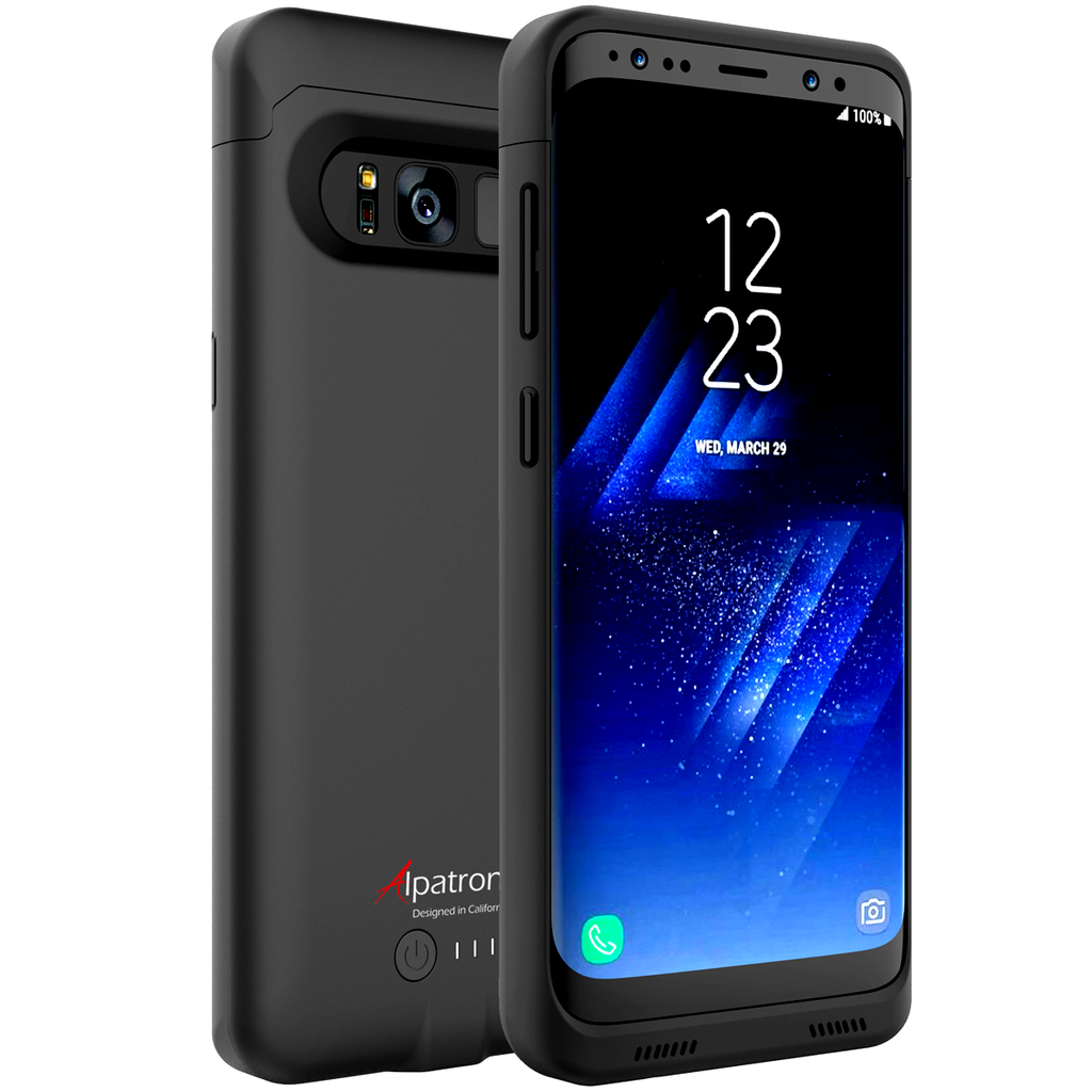 Alpatronix BX430 4500mAh Battery Charging Case for Samsung Galaxy S8 (5.8-inch) with Qi Wireless Charging