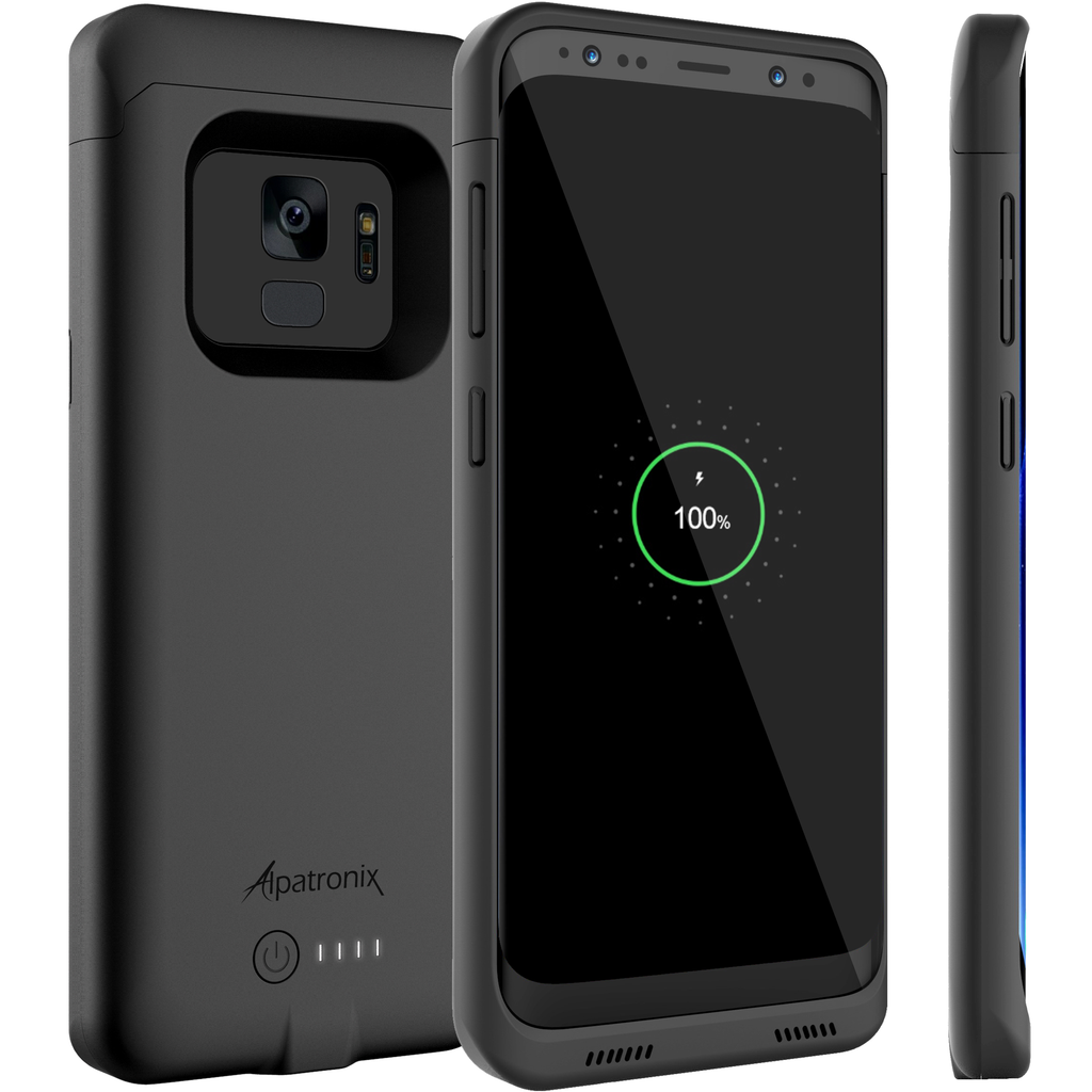 Alpatronix BX440 4000mAh Battery Charging Case for Samsung Galaxy S9 (5.8-inch) with Qi Compatible Wireless Charging