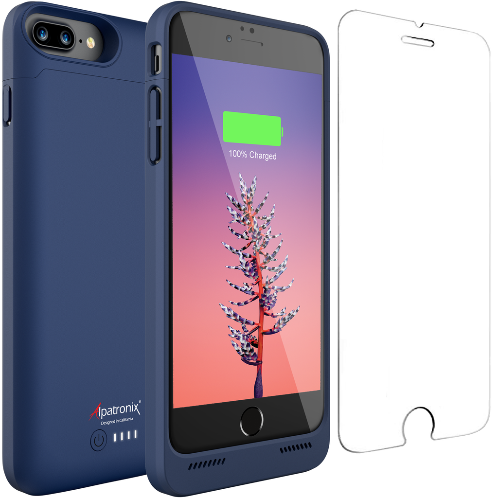 5000mAh Qi Compatible Battery Case for iPhone 7 Plus & 8 Plus (BX190plus)