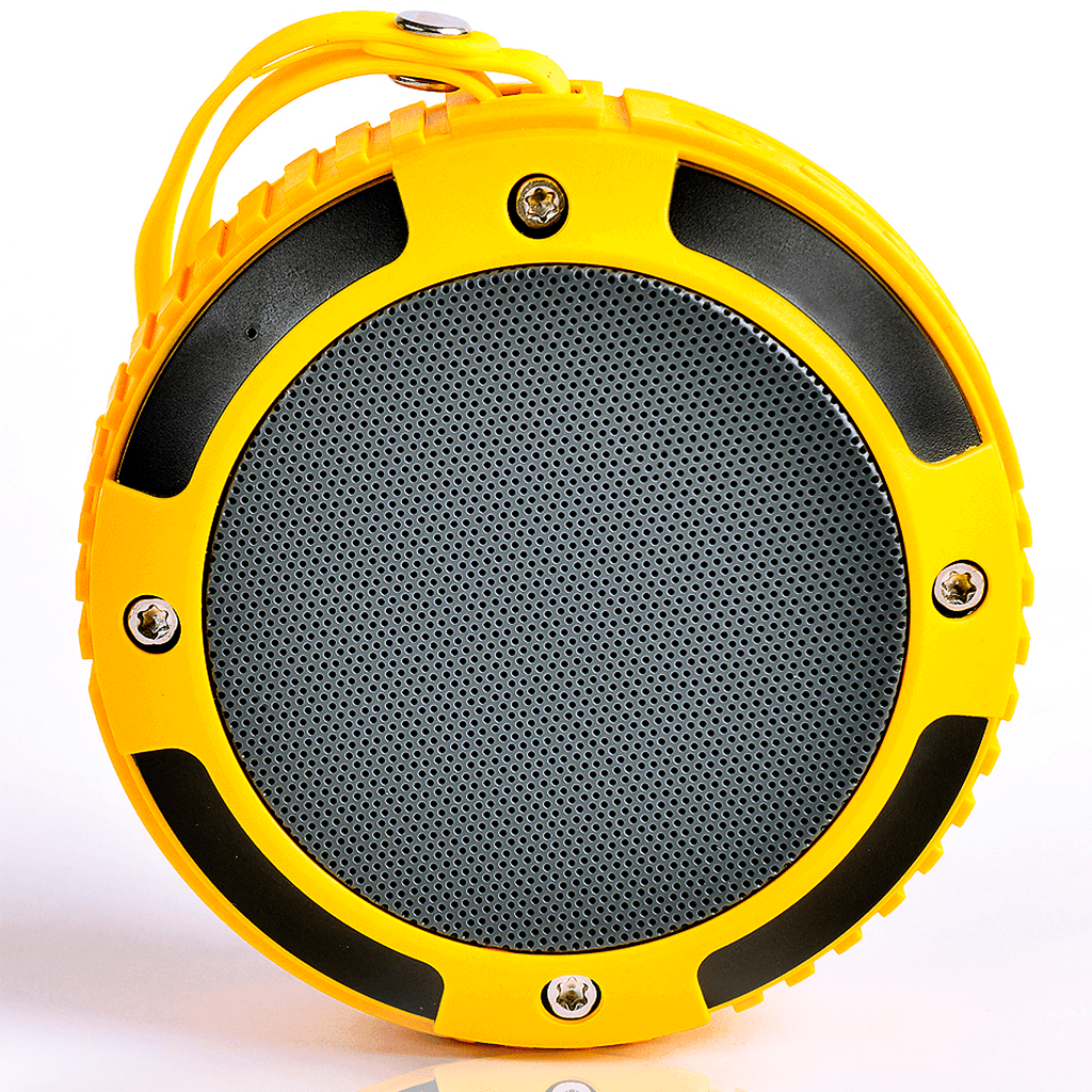 front - yellow ax320 wireless stereo speaker