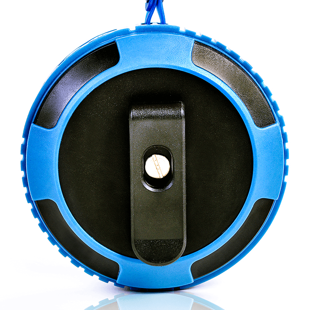 back - blue ax320 bt speaker with clip