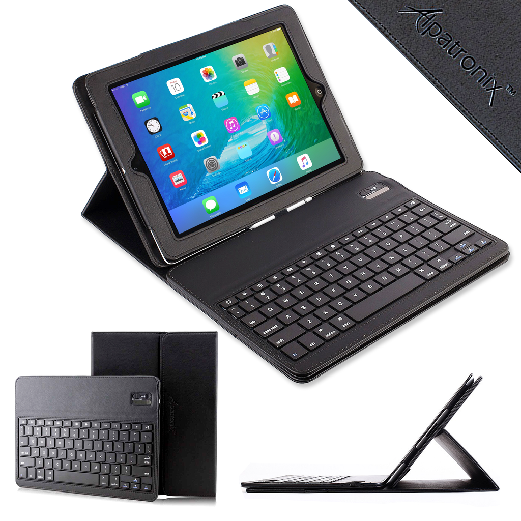 "Alpatronix KX140 Removable Bluetooth Keyboard Folio Leather Case for iPad Pro 12.9"" Version (2015 Release)"