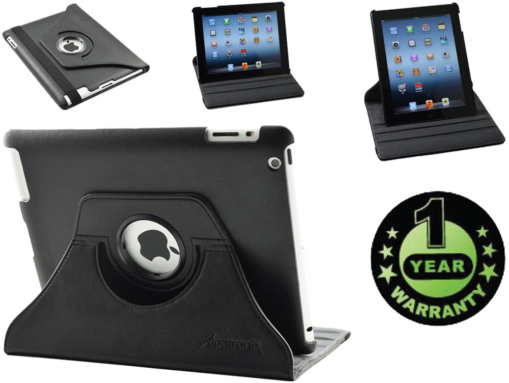 Alpatronix Landtrait Vegan Leather Rotating Apple iPad 2 smart case