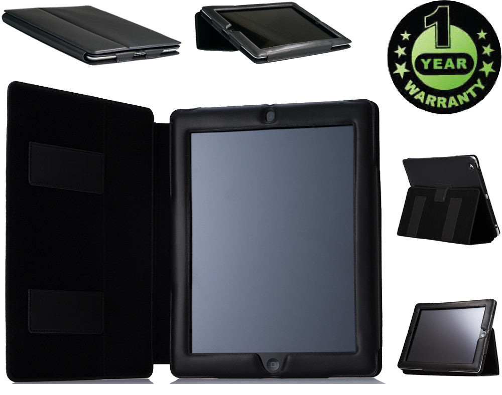 Alpatronix Leather Smart Cover Folio Case for the iPad 2, 3 and 4