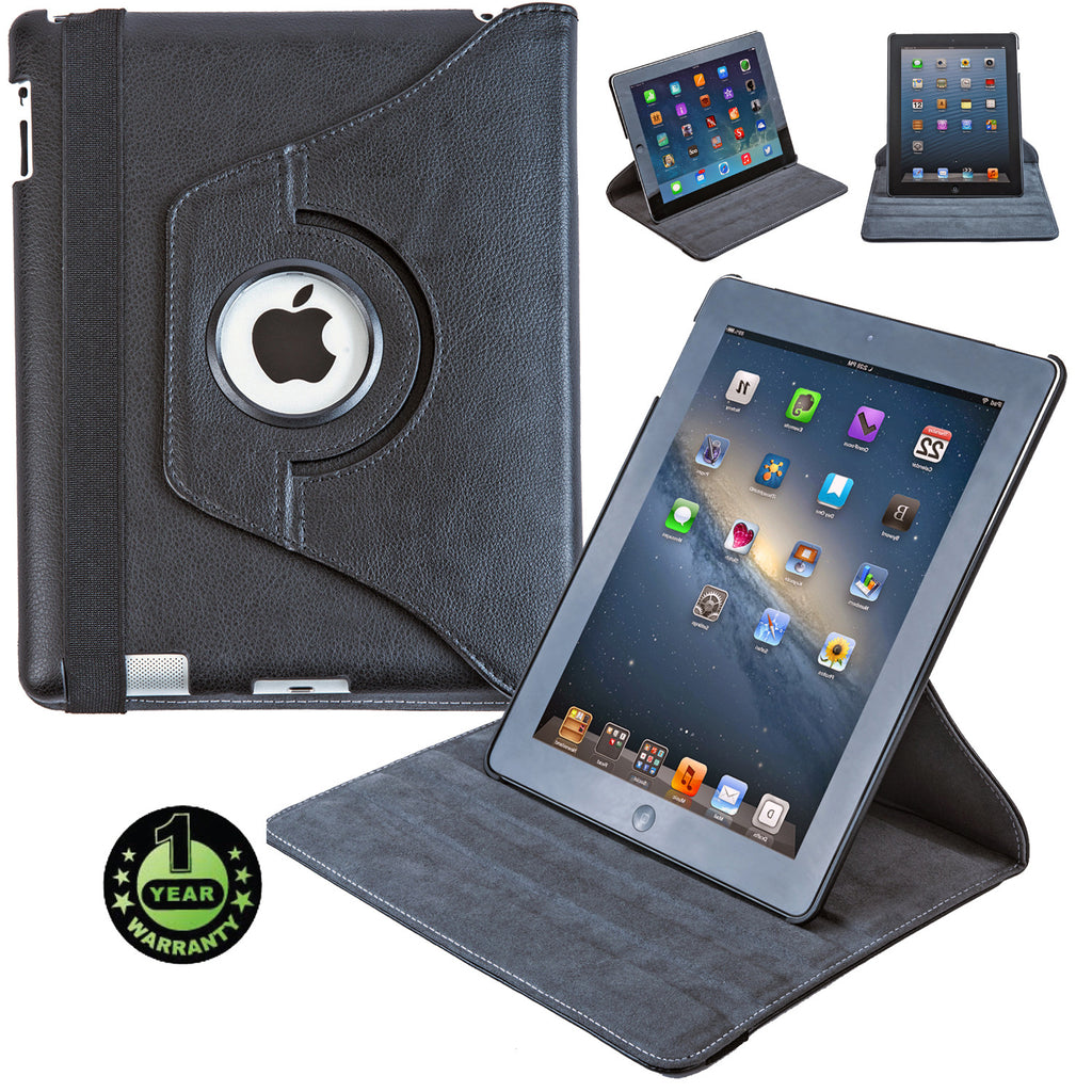 Alpatronix Landtrait Genuine Leather Rotating Apple iPad 3 smart case