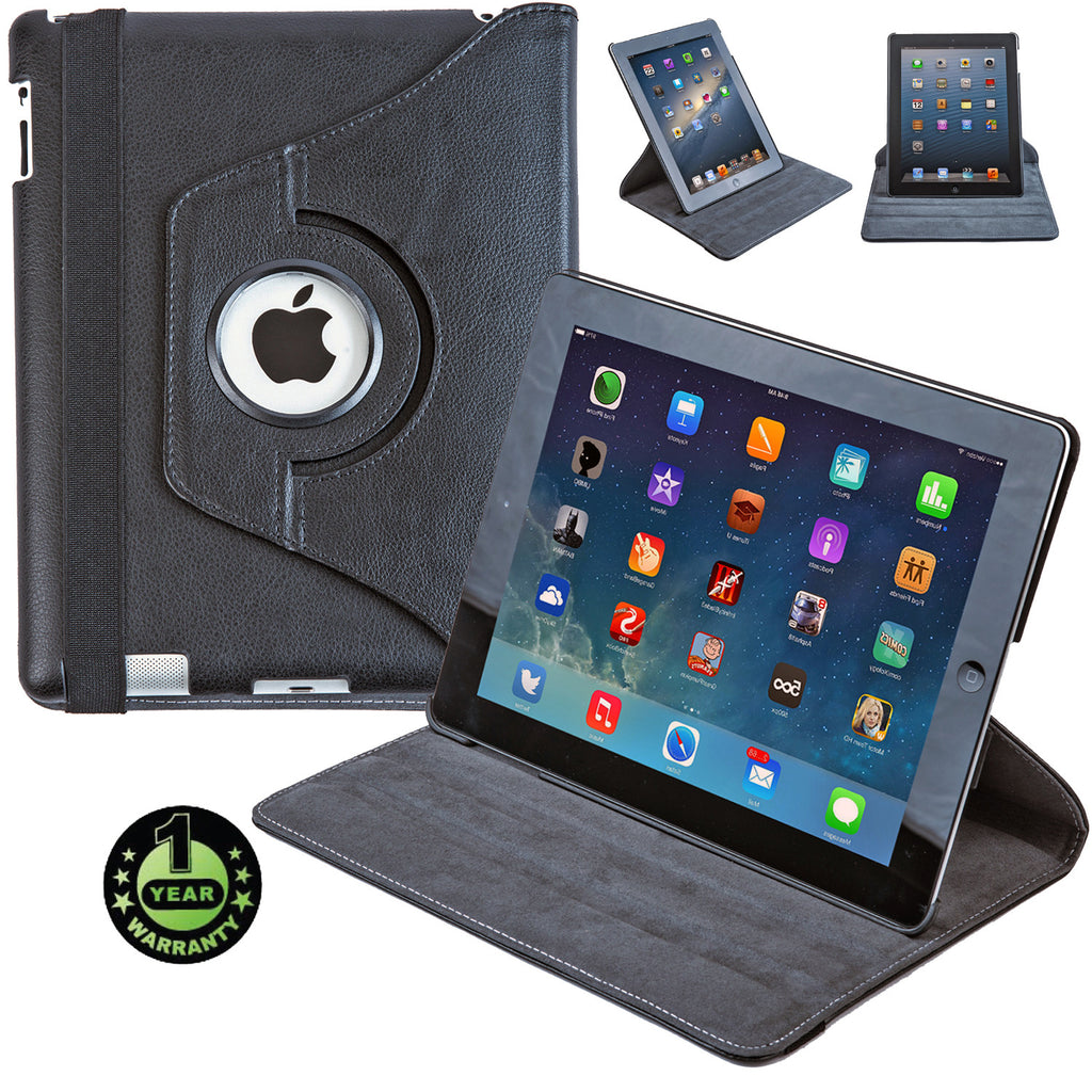 Alpatronix Landtrait Genuine Leather Rotating Apple iPad 4 smart case