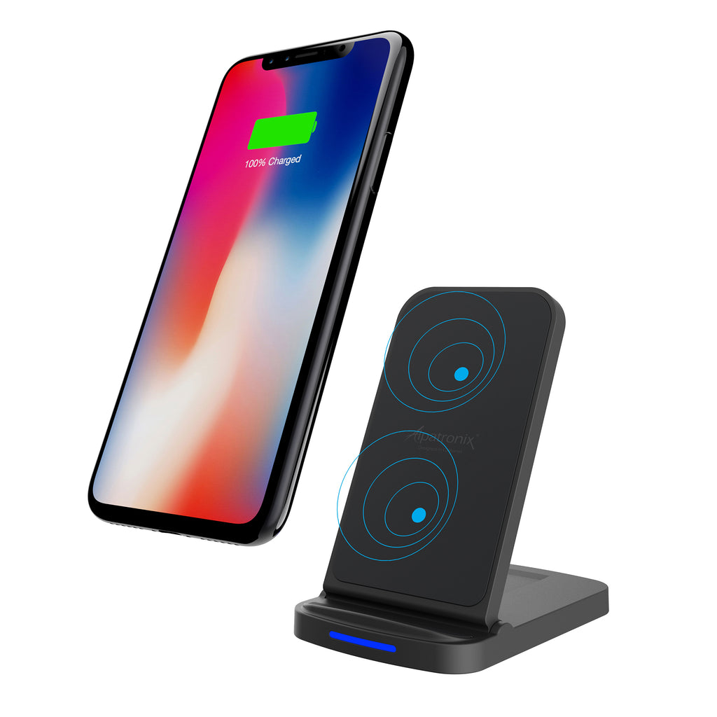10W Quick Charge Adjustable Qi Wireless Charging Stand with QC 3.0 Wall Adapter (CX200)