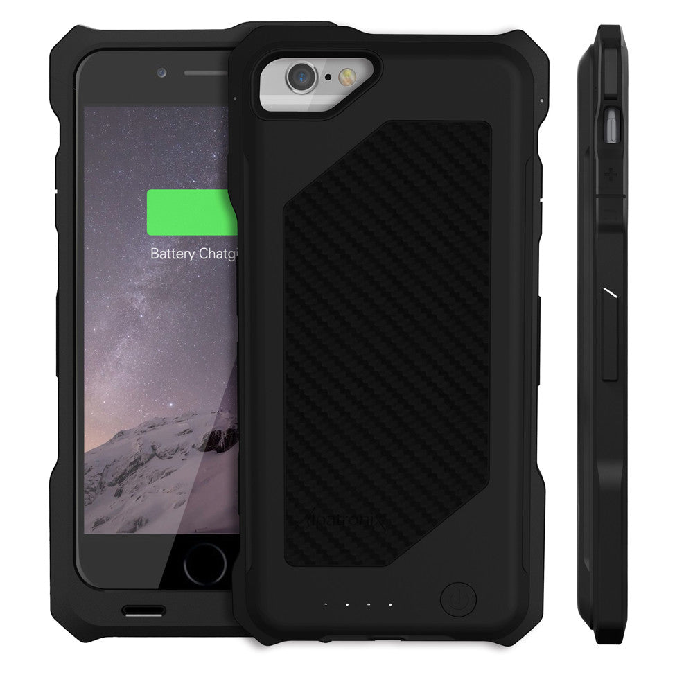 black bx150 iphone 6 battery case - carbon fiber back